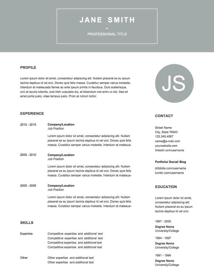 8 best resume design images on pinterest free cv template word