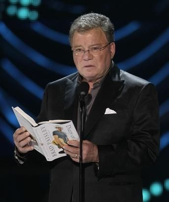 William Shatner reading -> engage ; saw him live in PGH