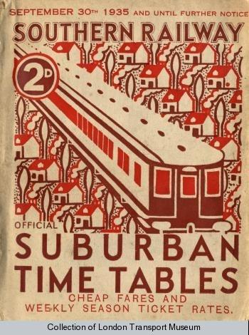 Timetable booklet: Southern Railway suburban timetables, 1935