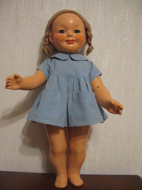 Кукла СССР Прессопилки 48см улыбашка.