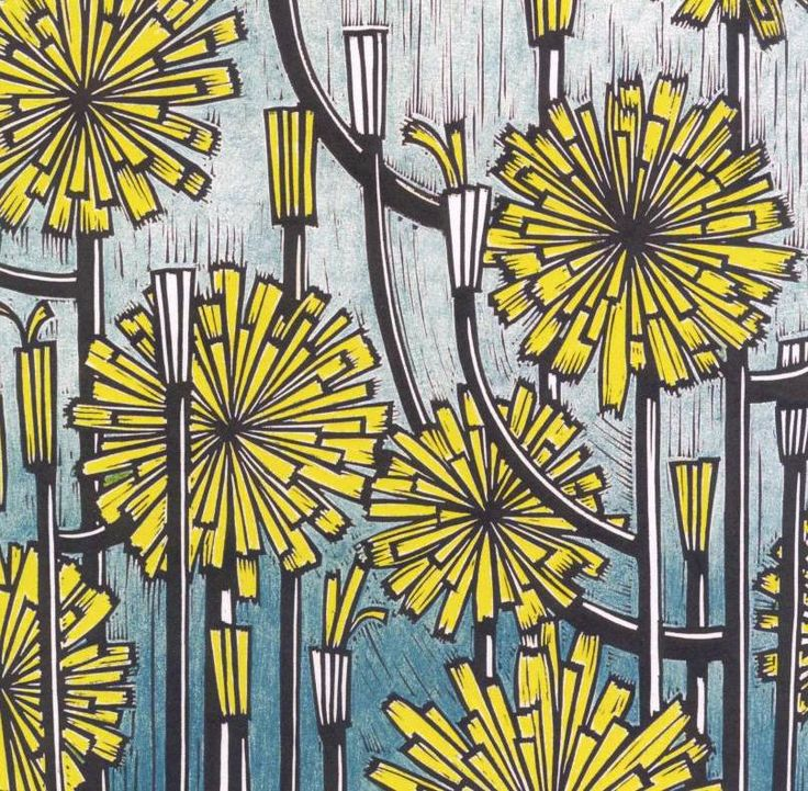 Linocut by Helen Roddie