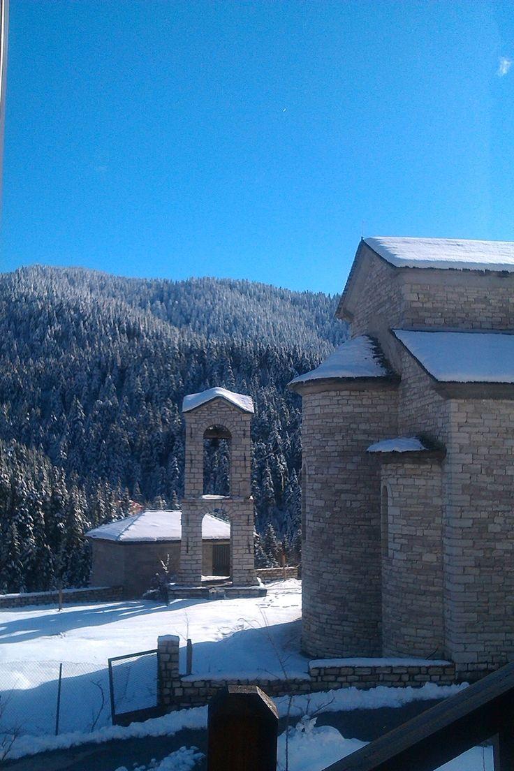 Church in the small mountain village of Pertouli ~ Trikala