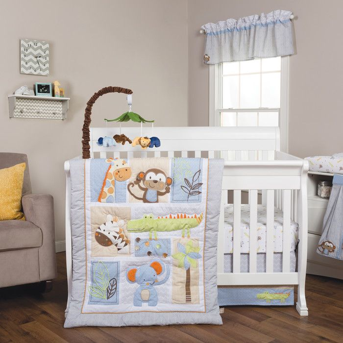 Trend Lab Jungle Fun 6 Piece Crib Bedding Set & Reviews | Wayfair