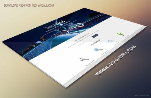 Макет для веб-сайта в перспективе