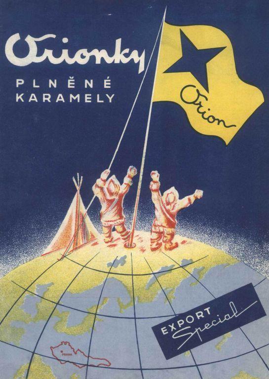 Zdenek Rykr: Obaly čokolády a bonbonů Orion, 20. a 30. léta, papír…