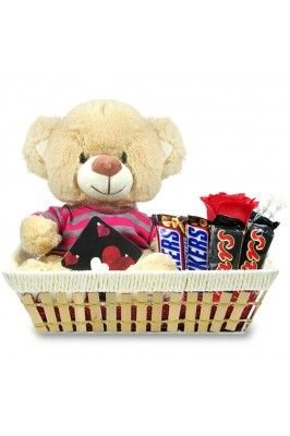 Celebrate your Friendship Day gifting this pack of Teddy & Chocolates Basket to your beloved friend.  #teddybearsonline #giftpacksonline #friendshipdaycombosonline #chocolatesonline #teddybearsonline Shop here- https://trendybharat.com/trendy-pitara/style-box/archies-gallery/teddy-chocolates-basket-val16-221