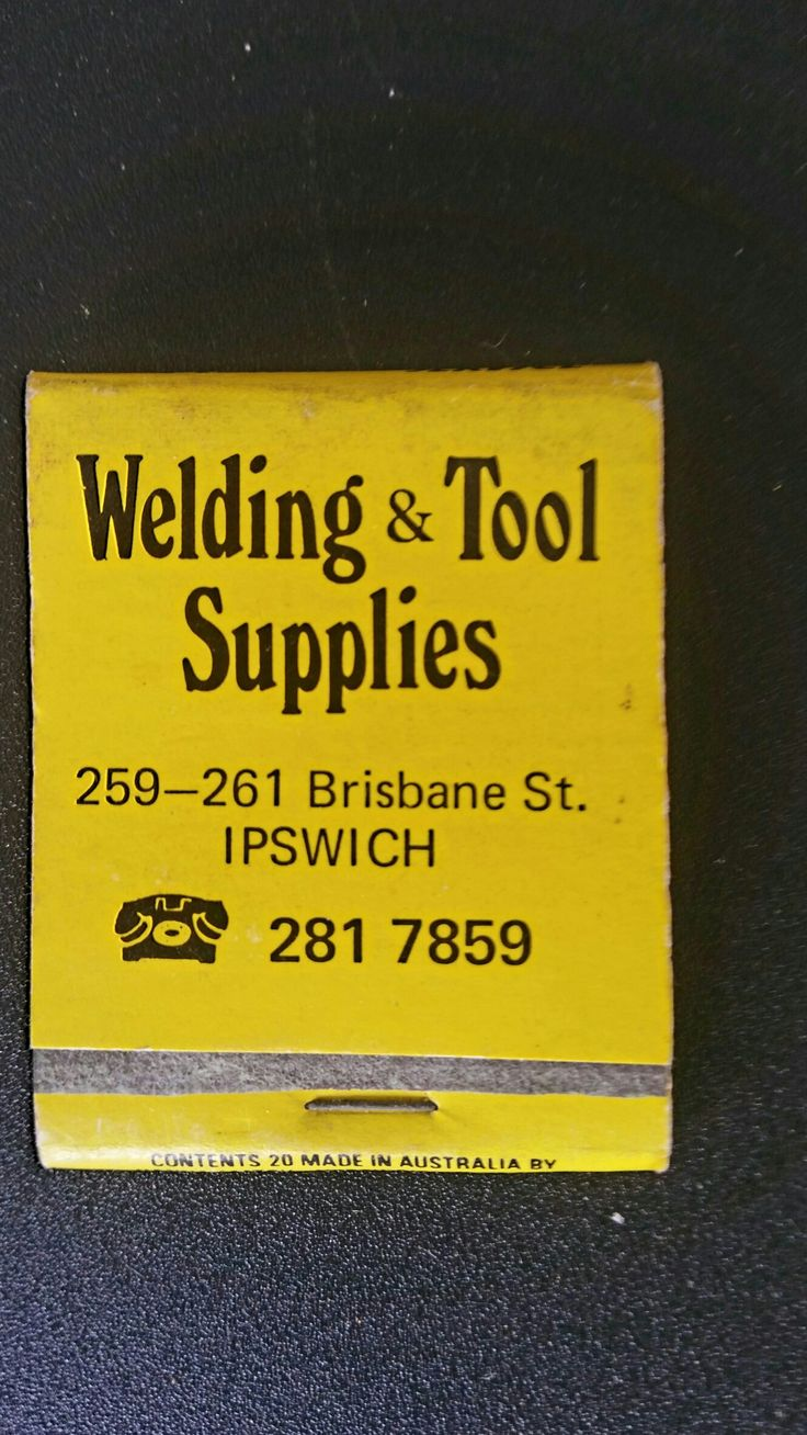 Welding & Tool Supplies, Ipswich. Matchbook.
