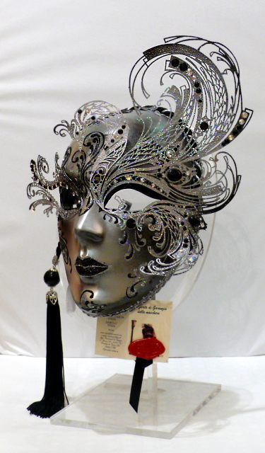 """Riccio"" Paper and metal mask. #masks #venetianmasks #masquerade http://www.pinterest.com/TheHitman14/artwork-venetian-masks-%2B/"