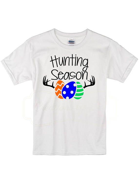 1ab89669 Egg hunting season Toddler Shirt, Easter Shirt for Toddler, Easter  Clothing, Funny Easter #ad