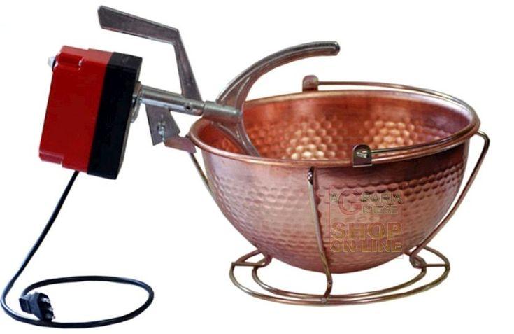 PAIOLO CON MESCOLATORE IN RAME CON VASCA LT. 3  DIAMETRO CM. 26 http://www.decariashop.it/home/12552-paiolo-con-mescolatore-in-rame-con-vasca-lt-3-diametro-cm-26.html
