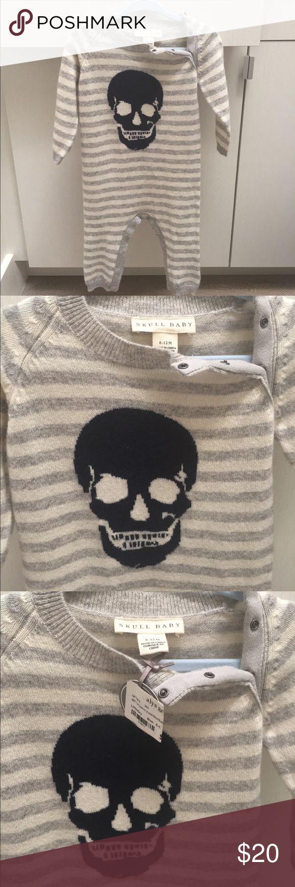 Boys 6-12m onesie cashmere Brand new cashmere onesie 6-12 months skull baby One Pieces Bodysuits