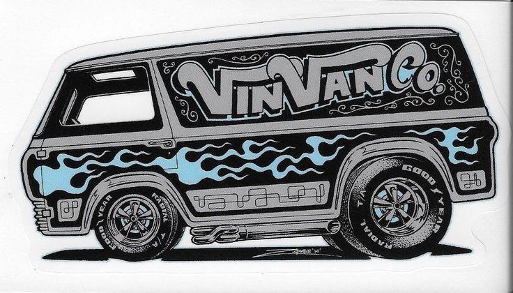 Ford econoline vintage van sticker 1st generation peel and stick vinvanco zombie