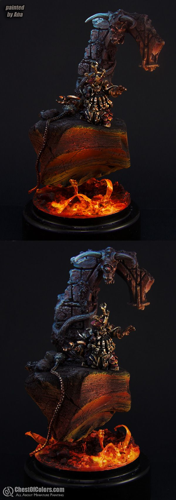 Chaos Dwarf Sorcerer-Prophet (Forge World)  Manufacturer: Games Workshop  by Ana