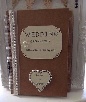 Bride to Be Personalised Wedding Planner/Journal / Note Book Engagement Gift    eBay