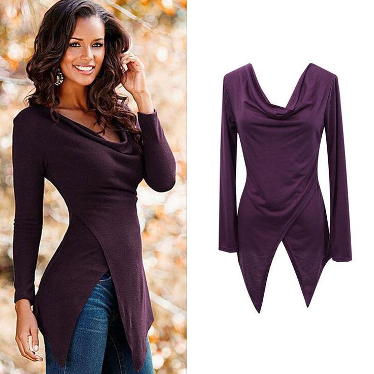 Women's Loose Long Sleeve Cotton Shirt Tops Fashion Casual Ladies Blouse T-shirt