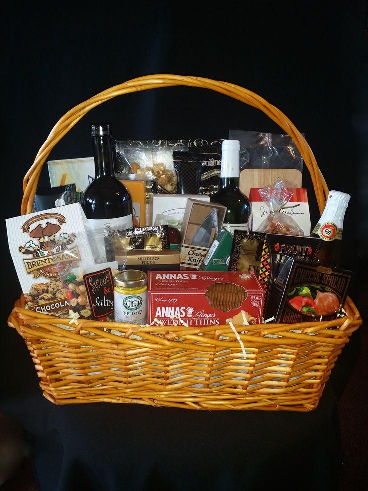 34 best gourmet gift baskets images on pinterest gourmet gift over the top gift basket in rectangular basket 2 bottles of wine sparkling cider negle Gallery