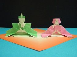 Origami Hinamatsuri Dolls (Emperor and Empress) - Two Tutorial Videos | Crafting | Paper Crafting | Other