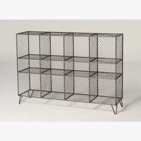 Vintage wire mesh storage unit