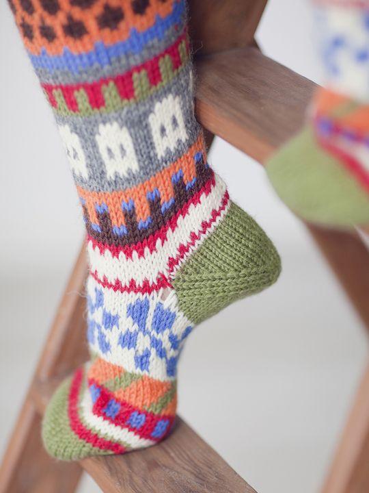 Jacquardstickade strumpor Novita 7 Bröder | Novita knits