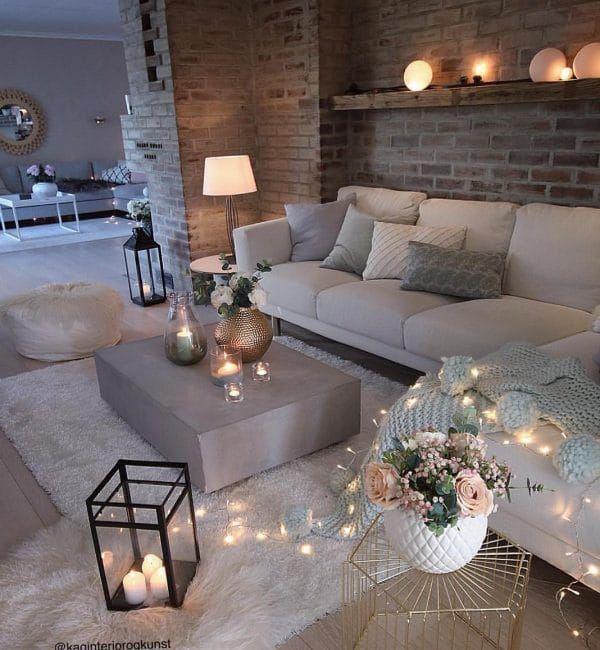 Como Decorar Con Velas La Casa Muero De Amor Por La Deco Apartment Living Room Design Living Room Decor Apartment Beautiful Living Rooms