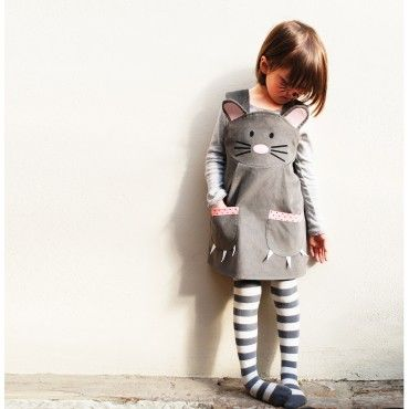 Wild Things Mouse Cord Pinafore Dress