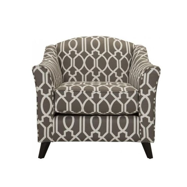 Fusion Coleman Dark Gray Patterned Accent Chair Accent