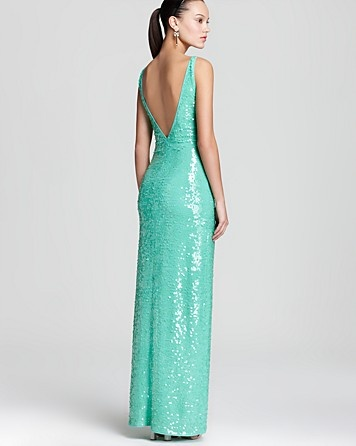 BCBGMAXAZRIA Sequin Dress - Sleeveless V Neck | Bloomingdale's #BloomingdalesProm