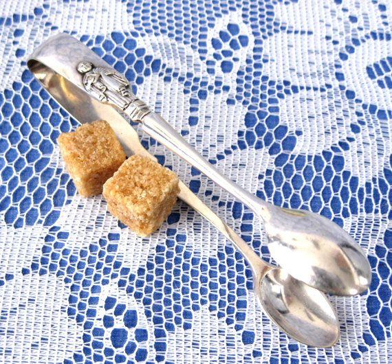 Victorian Apostle Sugar Tongs England Bridon Brothers Sheffield 1836-1910 by AntiquesAndTeacups