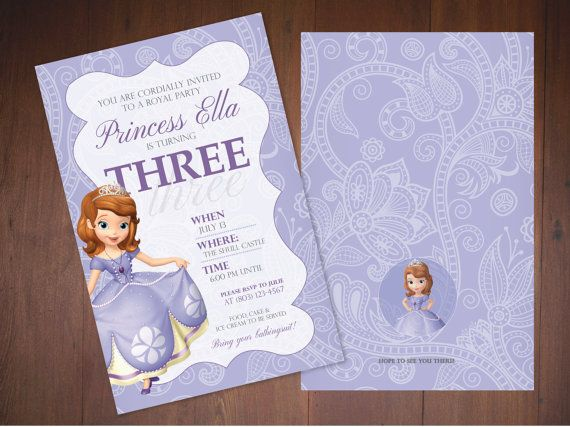 Sofia the First Party Invitations for your Little Princess (printed or printable)
