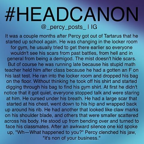"""""""None of your business, stupid."""" That's what Percy should have said."""