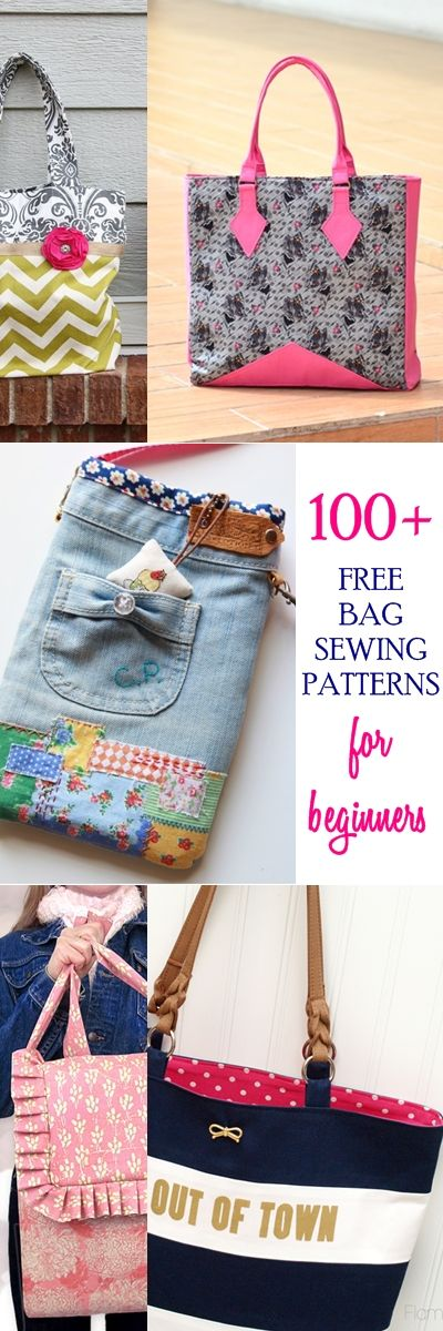 free tote patterns | handbag patterns | purse patterns | how to sew bags