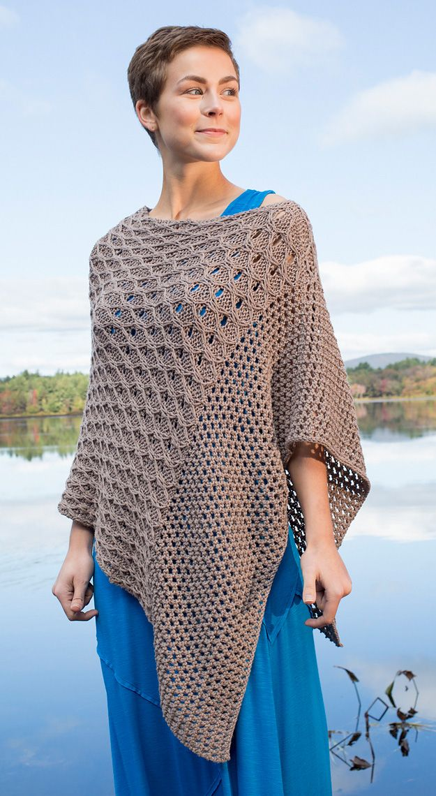 Knitting Poncho With Two Rectangles : Best images about knitting on pinterest free pattern