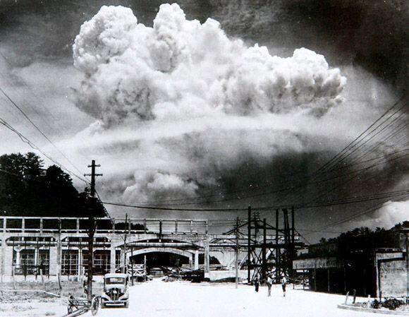 The moment of detonation at Nagasaki. August 9, 1945. Rad History (@RADHlSTORY) | Twitter