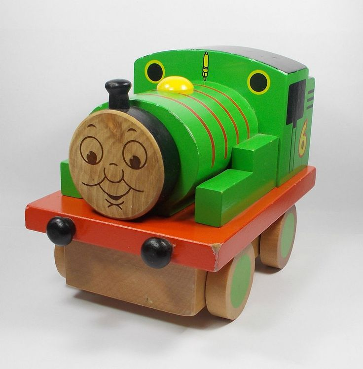 Thomas The Tank Engine - Percy 6 - Large Wooden Model Toy Train - 2007 (1)