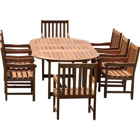 Crafted From Solid Eucalyptus Wood And Showcasing A Brown Finish, This  Classic Dining Set Is The Perfect Addition To Your Patio Or Sunroom. Part 93