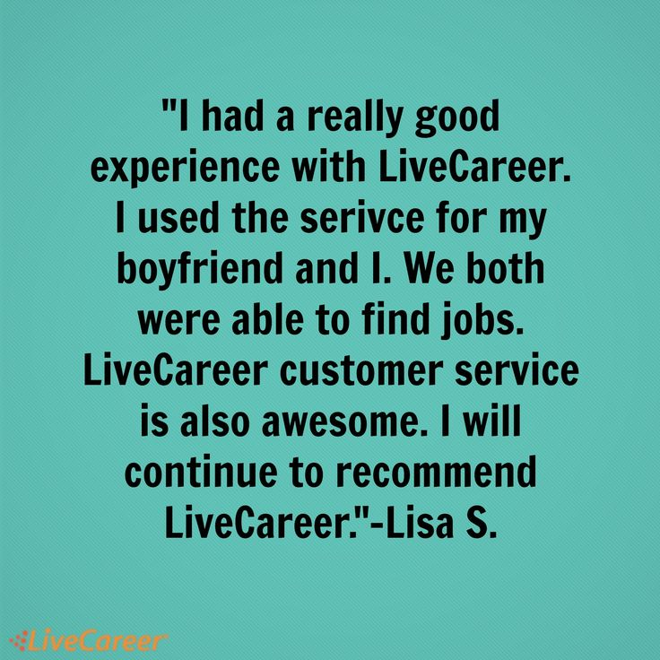 182 Best Livecareer Reviews Images On Pinterest | Resume Builder