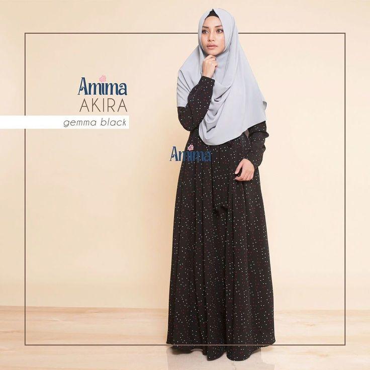 Gamis Amima Akira Gemma Black - baju muslim wanita baju muslimah Untukmu yg cantik syari dan trendy . . Size:  S ---> LD 94 | PJG 137 M ---> LD 100 | PJG 140 L ---> LD 106 | PJG 140 . . Detail : - Material bahan :  KOSHIBO BARBIE CREPE HQ (POLYESTER CREPE) bahannya flowy bisa swing-swing cocok untuk travelilng (ironless) - Dress depan model lipit 2 kanan-kiri kerah bulat Zipper depan - Kantong di kanan-kiri untuk menyimpan dompet / HP - Tali pinggang kanan-kiri adjustable bisa di ikat ke…