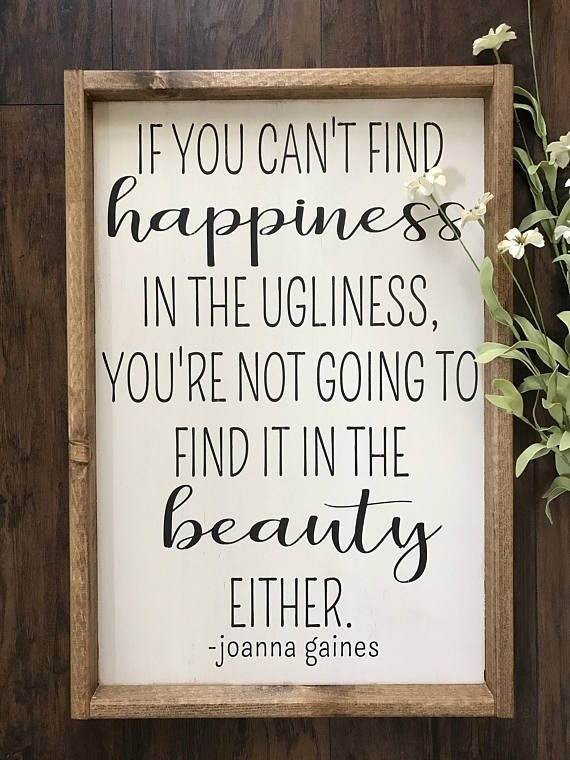 Joanna Gaines Decor – Fixer Upper Decor – Fixer Upper Sign – Farmhouse Decor – Farmhouse Sign – Motivational Decor – Inspirational Wall Art