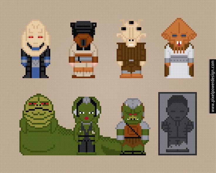 Jabba's Palace - Star Wars - PixelPower - Amazing Cross-Stitch Patterns