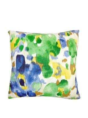 63% OFF The Pillow Collection Delyne Floral Pillow, Green/Blue, 18