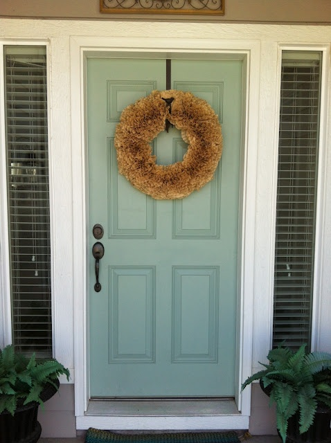 Front Door  Wythe Blue BM TASHA if you like blue doors this would be a good color for you paint your house LINEN WHITE with WYTHE BLUE doors.