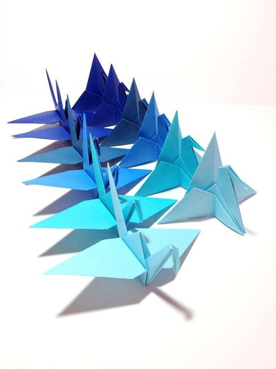 Nautical Blue Origami Cranes, Origami Garlands, Blue Mobile, Photo Backdrop, Place Card Holders, Asian Theme, Japanese Wedding, Blue Ombre, Ocean Blue Colors, Wedding Origami, Wedding cranes, Sky Blue Colors, Origami Mobiles, Origami Backdrops, Caribbean Blue Water Colors I