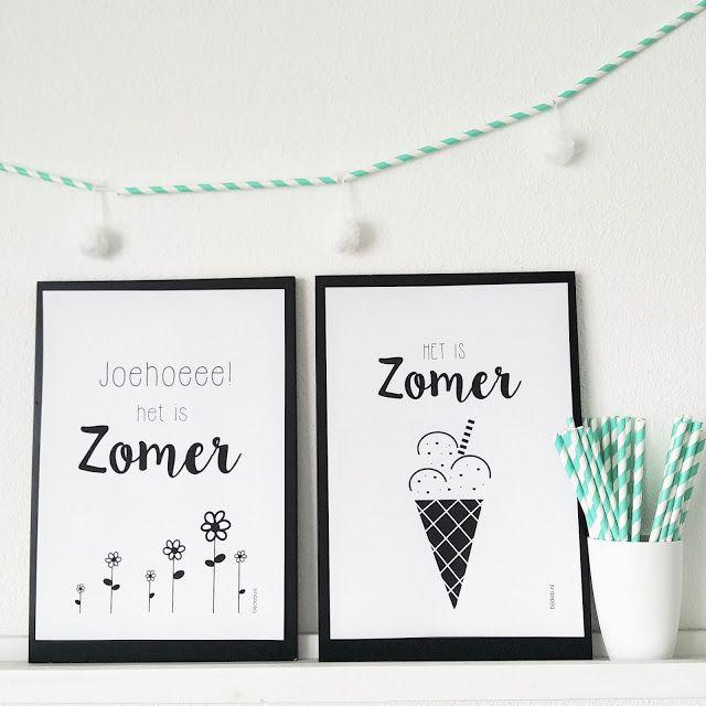 bijdeb: Free printable A4 Zomer poster...