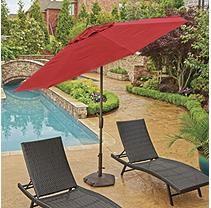 Market Umbrella-Jockey Red