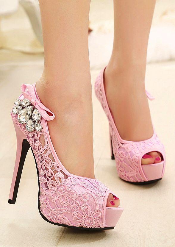 Super Sexy High-Heeled Korean Imports Fine Diamond Fish Head Shoes Singles Shoes Nightclub Essential Network