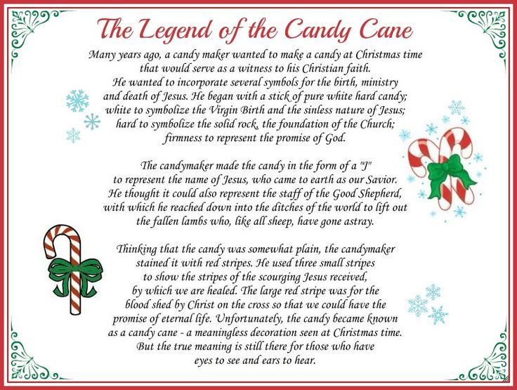 Legend of the Candy Cane | The Legend of the Candy Cane: Free Printable and a Giveaway! - Daily ...: