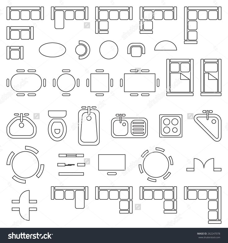 1000 ideas about round house plans on pinterest round furniture linear vector symbols floor plan stock vector