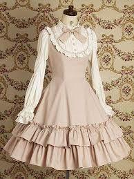 Dirty white lolita dress