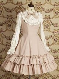 Dirty white lolita dress