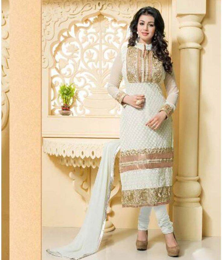 Long Georgette Designer Suits With Neck Embroidery http://alicolors.com/index.php?route=product/category&path=59_76